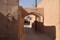 Fahaadaan Neighborhood in Yazd, Iran stock image