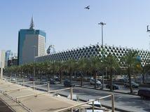 Fahad国王国立图书馆在利雅得 免版税库存照片