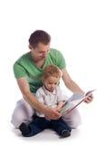 Faher con il bambino Fotografia Stock Libera da Diritti