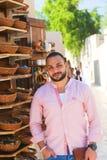 Fahidy老市的迪拜,阿拉伯联合酋长国游人 免版税库存图片