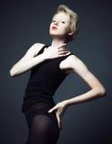 Fahion model with short hair Stock Photos