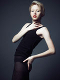 Fahion model with short hair Royalty Free Stock Image