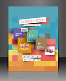 Fahion Shopping Center Flyer Stock Image