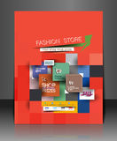 Fahion Shopping Center Flyer Royalty Free Stock Photos