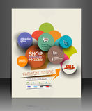 Fahion Shopping Center Flyer Royalty Free Stock Image