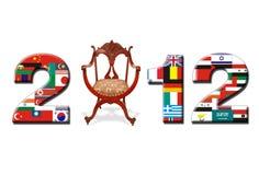 Fahne 2012 Lizenzfreies Stockbild