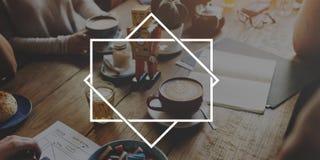 Fahne annoncieren Mitteilungs-Informations-Konzept stockfotografie