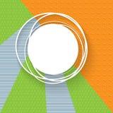 Fahne auf einem Hintergrund von Dreiecken von den Mustern Abstrakte Fahnen für die Werbung Kreative geothermische Fahnen Vektorbi stock abbildung
