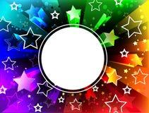 Fahne auf Regenbogenhintergrund Lizenzfreie Stockfotos