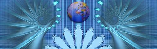 Fahne: Bewegung um den wo Lizenzfreie Stockfotos
