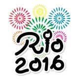 Fahne 2016 Brasiliens Rio de Janeiro Olympic Games Lizenzfreies Stockbild