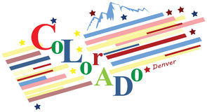 Fahne Colorado Lizenzfreies Stockfoto