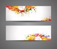 Fahne der abstrakten Sprühfarbe Stockfotografie