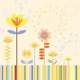 Fahne der Blumen-Background Lizenzfreie Abbildung
