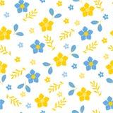 Fahne der Blumen-Background Farbenblumenmuster lizenzfreie abbildung