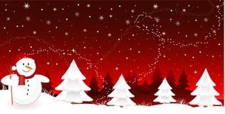 Fahne der frohen Weihnachten Lizenzfreies Stockbild