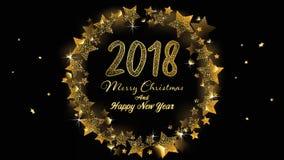 Fahne 2018 der frohen Weihnachten und des guten Rutsch ins Neue Jahr vektor abbildung