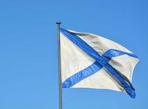 Fahne der kaiserlichen russischen Marine Lizenzfreies Stockfoto