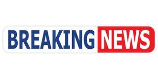 Fahne der letzten Nachrichten Nachrichtenfahnenvektor eps10 auf weißem Hintergrund vektor abbildung