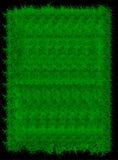 Fahne des grünen Grases des Rechtecks Es kann für Leistung der Planungsarbeit notwendig sein Stockfoto