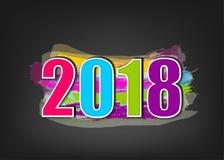 Fahne des neuen Jahres 2018 Lizenzfreie Stockfotos