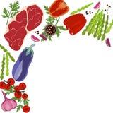Fahne des rohen Lebensmittels Stockbild