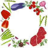 Fahne des rohen Lebensmittels Lizenzfreie Stockfotografie