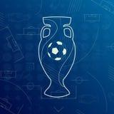 Fahne für Euro-Welt-FIFA-Meisterschaft 2016 lizenzfreie abbildung