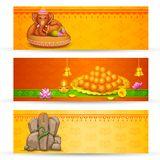Fahne für Ganesh Chaturthi Stockbild