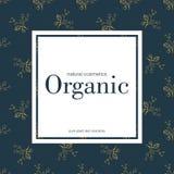 Fahne für organischen Shop Vector Blumenabbildung Stockfotos