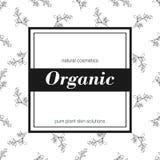 Fahne für organischen Shop Vector Blumenabbildung Lizenzfreie Stockfotografie