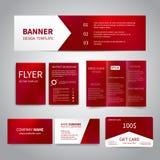 Fahne, Flieger, Broschüre, Visitenkarten Lizenzfreies Stockfoto