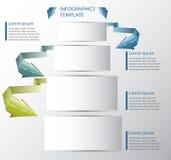 Fahne infographics Schablone mit leeren Notizblöcken vektor abbildung