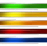 Fahne Mehrfarben Lizenzfreie Stockfotos