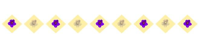 Fahne mit Blumen Lizenzfreie Stockfotografie