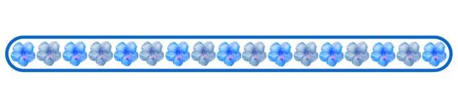 Fahne mit Blumen Stockbilder