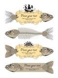 Fahne mit Fischen Lizenzfreie Abbildung