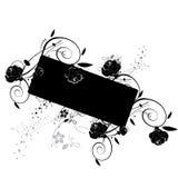 Fahne mit Rosen Lizenzfreie Stockbilder