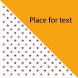 Fahne mit Sternen Mit Platz für Text Auch im corel abgehobenen Betrag vektor abbildung