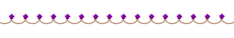 Fahne mit violetten Blumen Stockbild