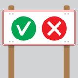 Fahne oder nein ja wählen lizenzfreie abbildung