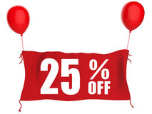 Fahne 25%off Lizenzfreies Stockbild