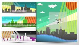 Fahne und der Titel des Standorts in der städtischen Art Lizenzfreies Stockfoto