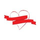 Fahne und Liebe Lizenzfreie Abbildung