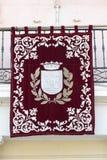 Fahne von Alcala de Henares Lizenzfreie Stockfotografie