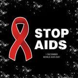 Fahne WELT-AIDS-TAG Stockfotos