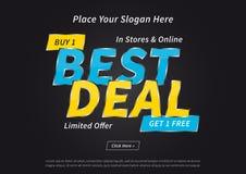 Fahnen-bester Abkommen-Kauf vektor abbildung