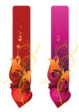 Fahnen cantains Inneres und Blumenverzierung Lizenzfreies Stockbild