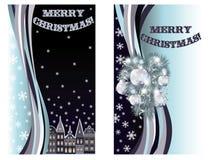 Fahnen der frohen Weihnachten Stockfotos