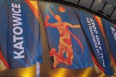 Fahnen der 2017 Männer ` s europäischen Volleyball-Meisterschaft Lizenzfreie Stockfotos